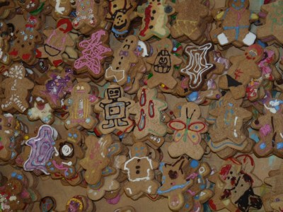 I have just over 500 gingerbread men lying around in my bedroom and I dunno what to do with them. Any ideas?