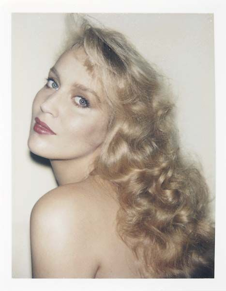 Jerry Hall by Andy Warhol.