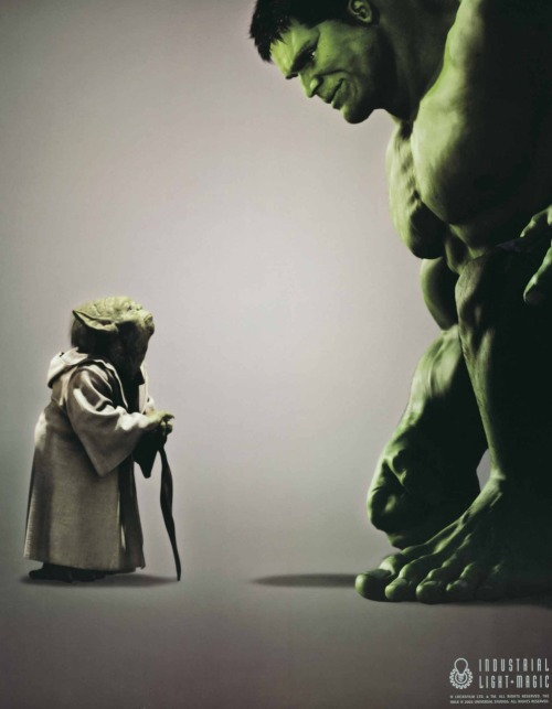 rocom:  Rare ILM Poster of Yoda with HULK