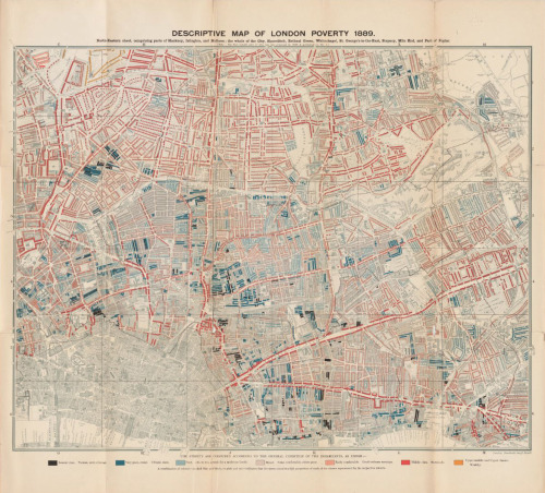 Charles Booth, 1889, Descriptive Map of London Poverty