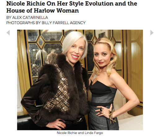 Check out my Fashion Week chit-chat with Nicole Richie! (Linda Fargo is EVERYTHING!) READ MORE