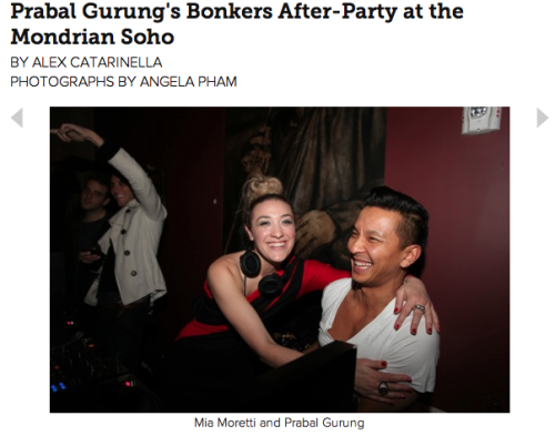 My review of Prabal Gurung's bonkers NYFW after-party at the Soho Mondrian (and a quick chit-chat with him)! READ MORE