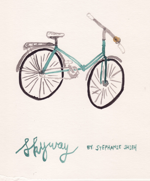 Stephanie Shieh is a Crafter/Baker/Bicyclist/Sketchbook-filler who works as a Program Assistant for a human rights non-profit organization in New York, NY