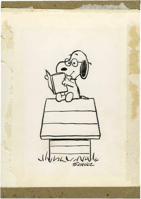 Charles Schulz original sold at auction via Heritage Auction galleries 1968 via Drawn