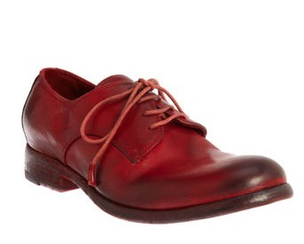occasional perfection: sartore lace up oxfords for women, as seen on m0ddie's svpply list. even the aglets are cherry red.