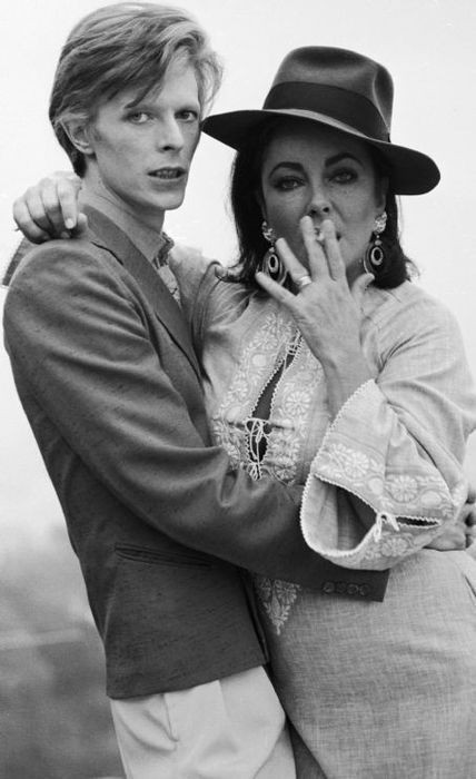 Miss Liz Taylor kicking it with David Bowie. I like this side of her!  Via/