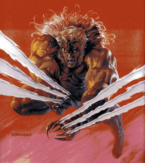 """Berserker claw!"" (Yes, I played a lot of X-Men Vs. Street Fighter.)"