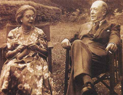 This is Lewis with the love of his life, Joy Davidman. One of the things that so impressed me when researching Lewis was that the guy was so smart. Even more negative biographers mention that he was regarded as one of the most widely read men in England. And all that started at a young age. As a teenager he was already reading tons of classic literature in multiple languages. When I see the amount of intellectual work that he did as a teenager, I can understand why socially he was a little crippled. Most biographers say he wasn't exactly comfortable around women, and in the early years at least, there's evidence of him being a bit of a misogynist. No wonder then that it took him until his mid-50's to get hitched. But when he did, it seems he found a real soul-mate. Joy Davidman was as much an intellectual giant as Lewis, reading major works by age 8 and entering university at age 14. I can hardly imagine talks around the dinner table. I wonder if they required each other to cite sources to back up their opinions?