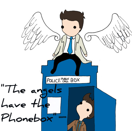 "supernaturalunlimited:  ""The angels have the phone box"""