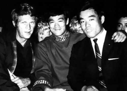 Steve McQueen & Bruce Lee A classic picture from the archives - Steve wearing a Harrington too!