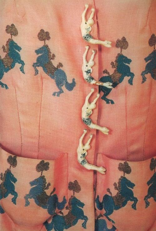 witchesandslippersandhoods:  Detail of Schiaparelli Circus jacket