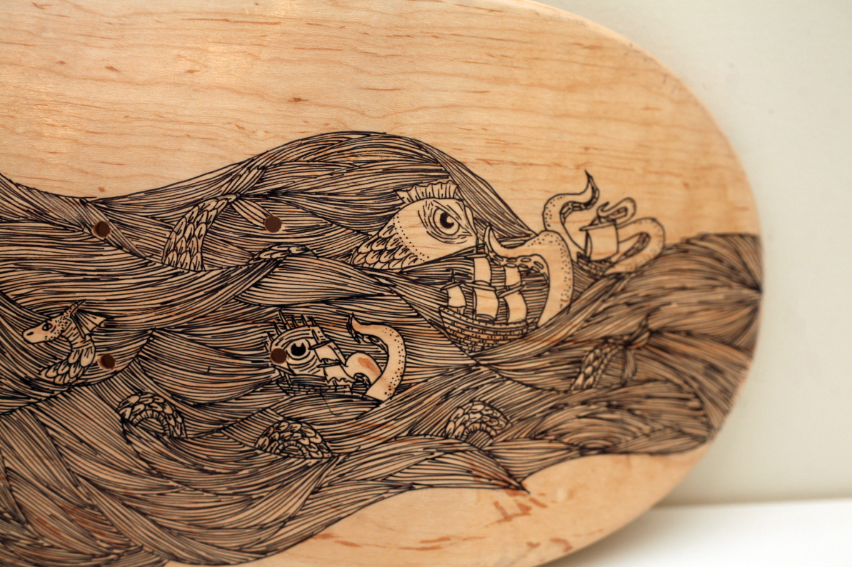 Skate deck collaboration with the talented Mr. Taylor  (Detail)