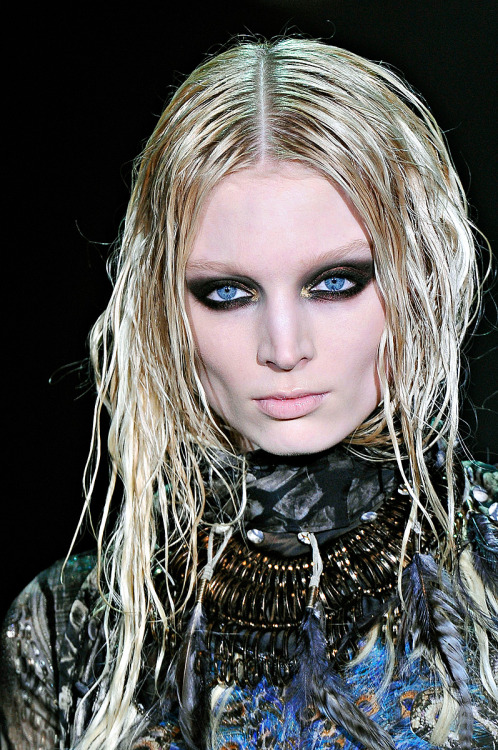 Melissa looking fierce as hell at Roberto Cavalli A/W 2011.