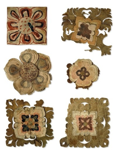 Unknown (China) Painted Paper Flowers 9th - 10th century