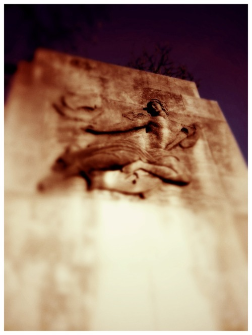 Ascend: Bas relief on the Duke Ellington bridge