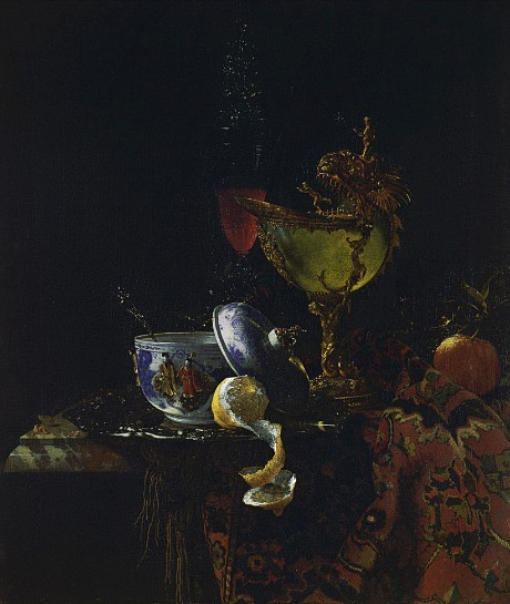 Willem Kalf Still Life with a Chinese Bowl and Nautilus Cup 1662