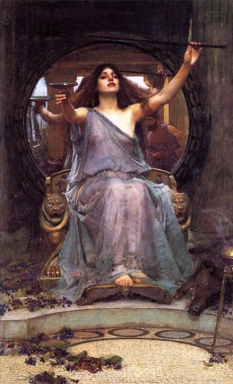 1891 John William Waterhouse (British 1849-1917) ~ Circe Offering the Cup to Odysseus