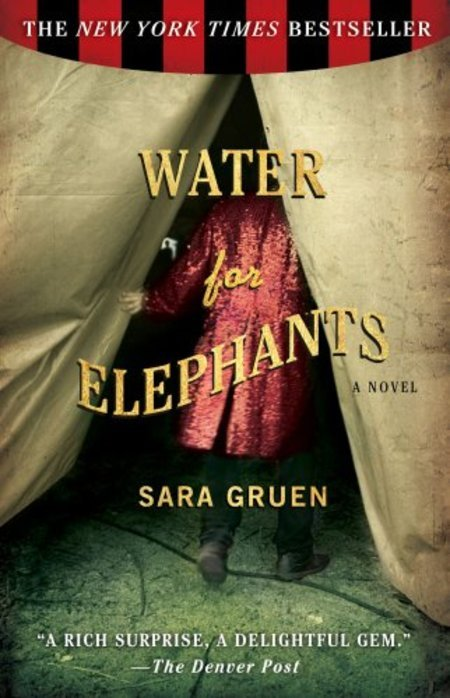 Day 23 - A picture of your favorite book. Water for Elephants by Sara Gruen It was hard to pick just one. The other contenders were: Sum by David Eagleman One Door Away From Heaven by Dean Koontz Extremely Loud and Incredibly Close by Jonathan Safran Foer Fire Bringer by David Clement-Davies Things Fall Apart by Chinua Achebe