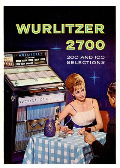 Hey Wurlitzer 2700, we asked you to play music for our date, not be a third wheel. Give us some space, man.