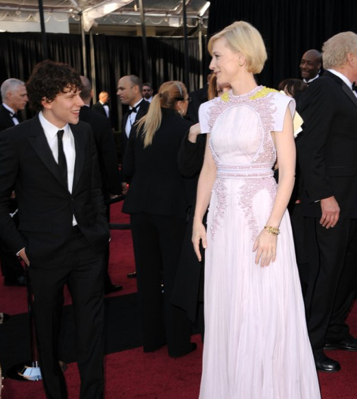 "gwenstasty:   Cate Blanchett and Jesse Eisenberg  c r y i n g  ""Even the smallest person can affect the course of the future."""