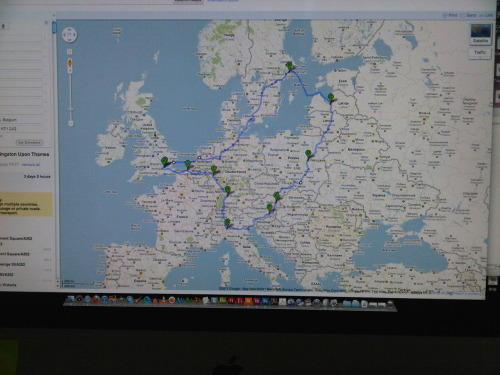 The proposed route of our Road trip next summer!