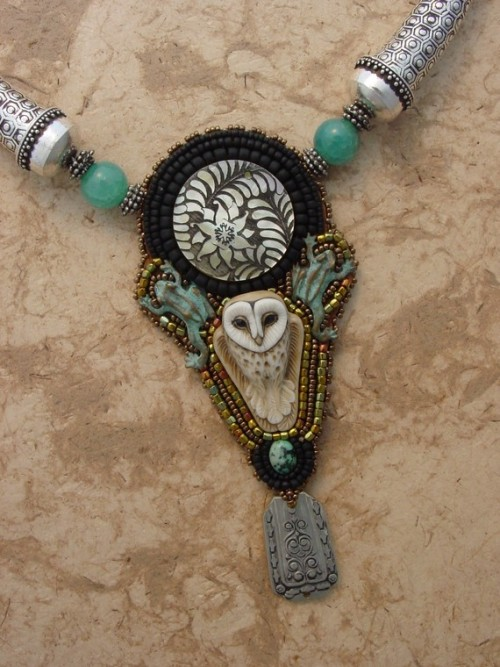 "forestgrove:  ""Owl Totem Necklace"" by Heidi Kummli"