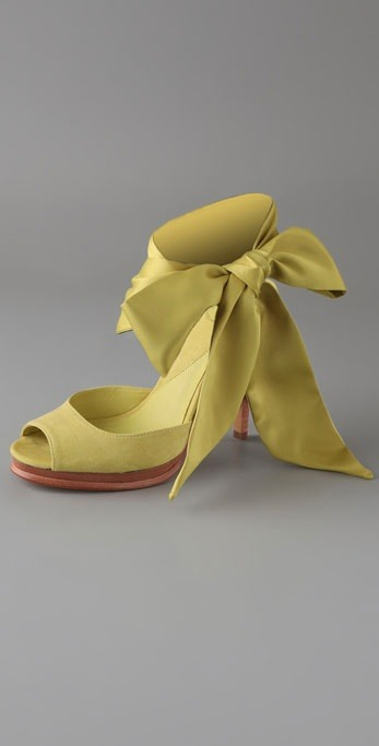 Shoes of the day: Diane von Furstenberg eva scarf tie platform sandals (Via Shopbop.com)