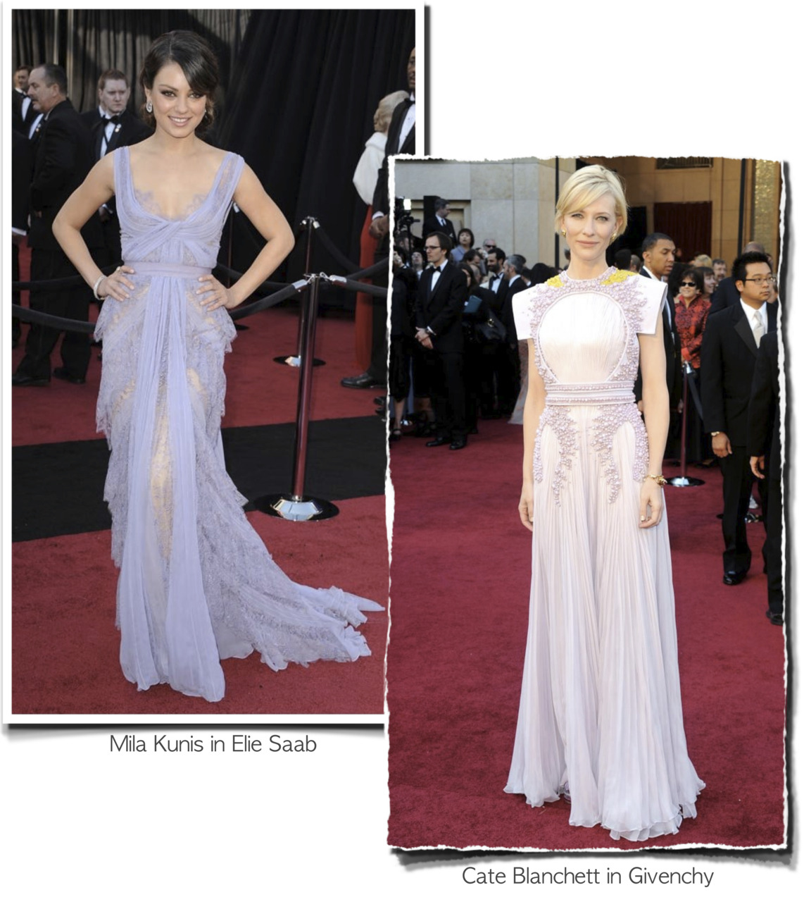 Rosa Loves… Lilac gowns at the 2011 Oscars.  {Photos via fashionologie}