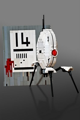 This is just awesome. Portal + LEGO = Incredible. videogamenostalgia:  LEGO Portal Turret - by Will Page It even has opening side panels! (via: Super Punch)