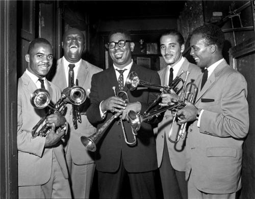 Essence of Style (L-R:) Joe Gordon, E.V. Perry, Dizzy Gillespie, Carl Warwick and Quincy Jones NYC, New York, 1955