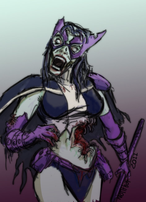 Zombie Huntress.