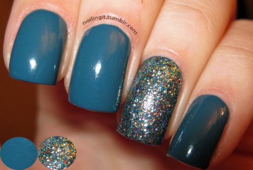 orly - sapphire silkopi - shimmer and simmer went on a small nail polish spree this weekend while visiting the suburbs, bought almost ALL blues for some reason. sooo happy with both of these polishes.