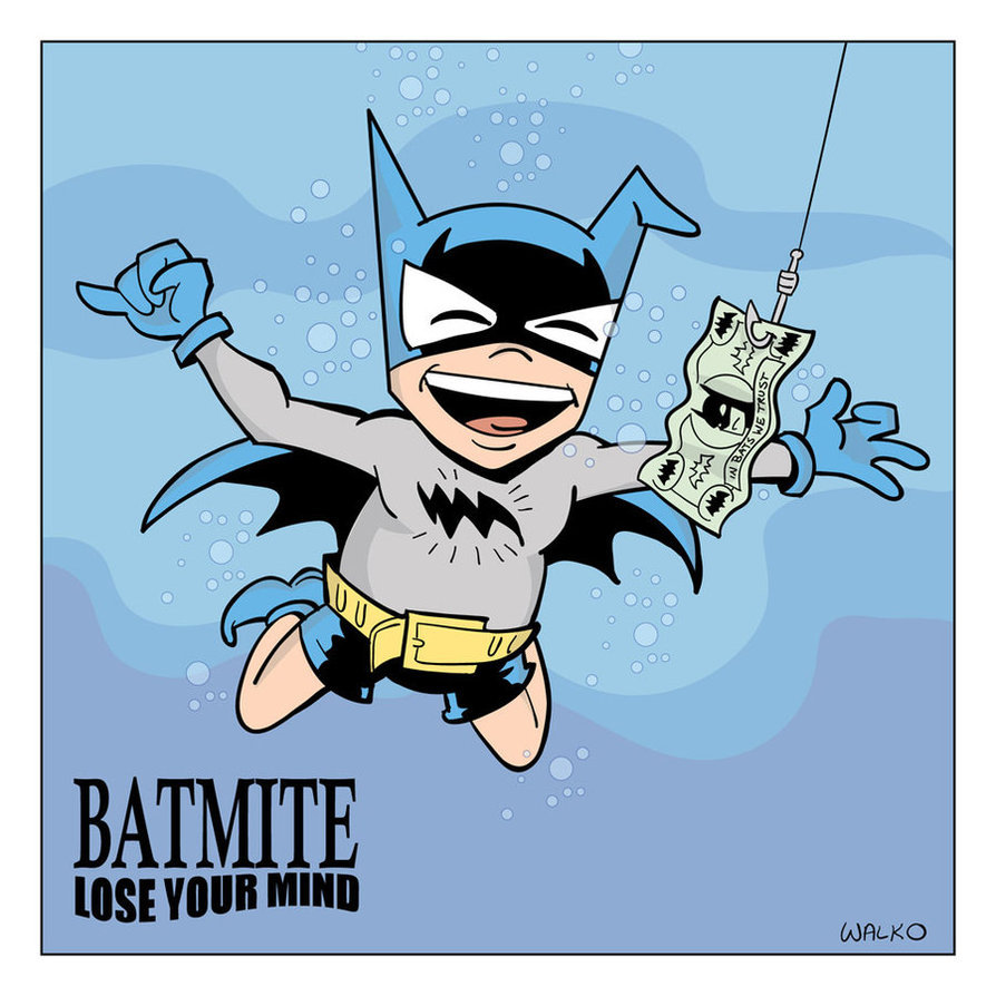 Bat-Mite Album Homage by Bill Walko Oh thank tacos Bat-Mite is wearing clothes in this.