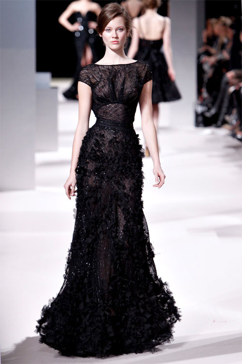 {Elie Saab via a glamorous little side project} Texture, form, and fit at its best. Leaves me speechless.