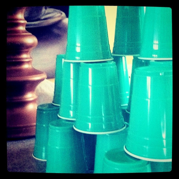 I just love cup stacking mommy, it's like it never gets boring  Dailypoetics | Photo