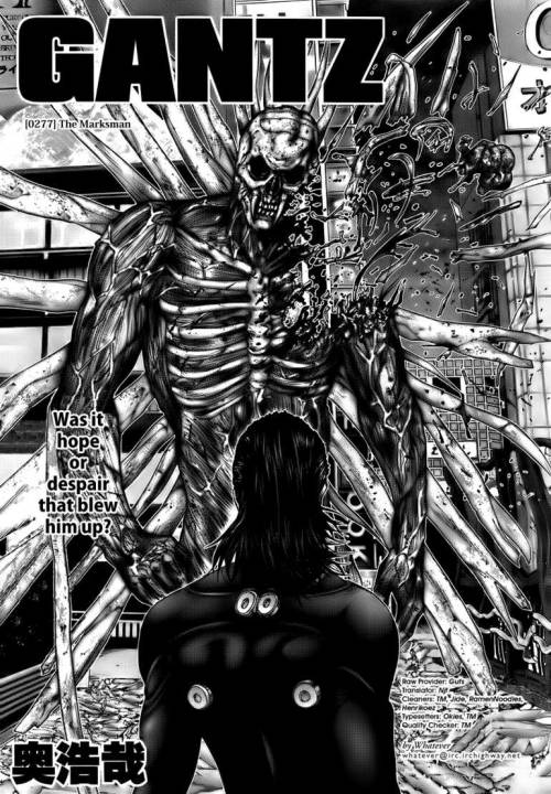 I've still yet to start my GANTZ review. I fully intend to, but since I saw the movie I was inspired to read all the manga up to date which I now have. It's pretty complex stuff, kinda twisted too, but so so wicked. I'll try and dirge something out a.s.a.p.