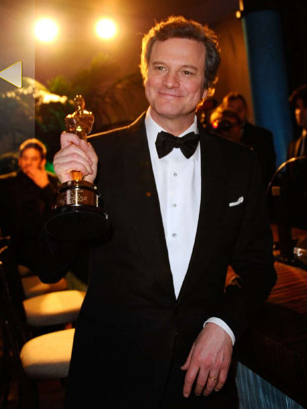 Ladies and Gentlemen, Academy Award WINNER, Colin Firth. Best. Picture. Ever. Oh and it's also my Facebook profile picture, just to spread the HARDCORE LOVE.