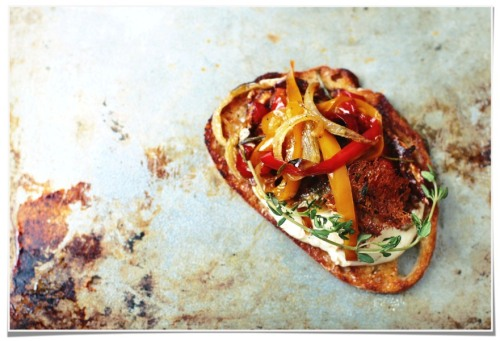 phoods:  Give me Flour » Blog Archive » roasted red pepper bruschetta