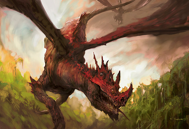 defenestrador:  Broodmate Dragon by Vance Kovacs. MtG art