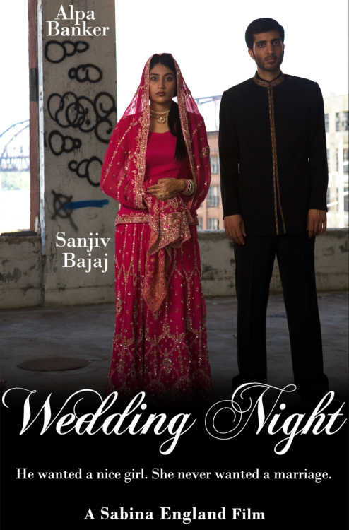 "deafmuslimpunk:  Here is one beautiful film poster for my film, Wedding Night. The graphic designer, Elizabeth Bradshaw, is actually someone I met here on Tumblr, thanks to you readers who reblogged my ""wanted"" ad a few weeks ago :-) In fact, I have another graphic designer (also from Tumblr) who is currently designing another poster. So I will have a few more posters coming soon, and I can't wait to share them with you guys. My film Wedding Night will be shown at the *Oxford International Women's Festival on March 10th. If you live in Oxford and have no plans, you should go see my film. *Note to Deaf viewers: unfortunately there will be no closed captioning available for my film at the festival, but I plan to add closed captioning to my film in the future."