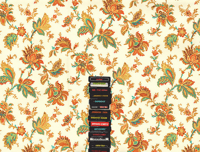 Atari & Flower Wallpaper (by Hollis Brown Thornton)
