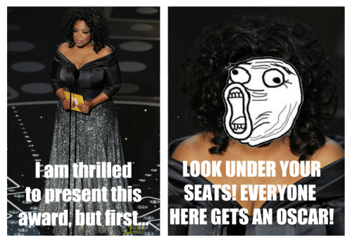 praaachi:  Oprah hosting the Oscar's erryone lol