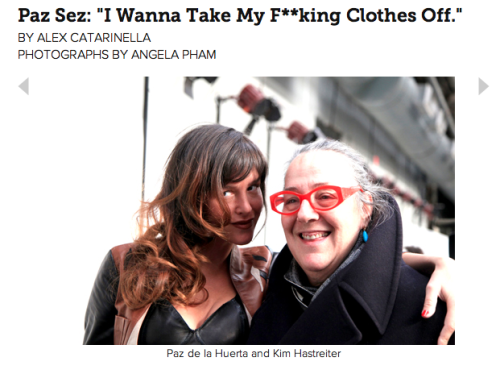 Check out my fun Fashion Week chit-chat with Paz for PAPERMAG! READ MORE