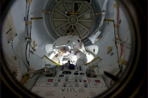 It's a good day for spacewalking (by Paolo Nespoli)