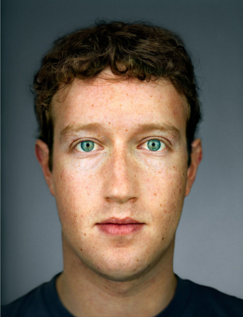 Mark Zuckerberg : portrait by Martin Schoeller via @autoentropy