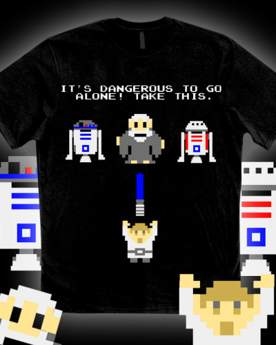 aroldo666:  it8bit:  It's Dangerous To Go Alone Cool Star Wars/Zelda mashup by kerTrek  Need this *_*