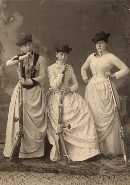 tuesday-johnson:  ca. 1889, [Women with Rifles], Gerhard Gesell via the Wisconsin Historical Society