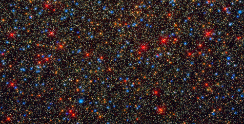 """Colorful stars galore inside globular star cluster Omega Centauri.""  Just amazing! (Click on the picture!)  http://www.webbtelescope.com/newscenter/archive/releases/cosmology/intergalactic%20gas/2009/25/image/q/format/xlarge_web/"