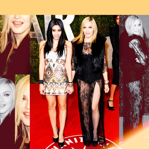 Madonna & Lola || 2011 Vanity Fair Oscar Party  Oh, the perfection.