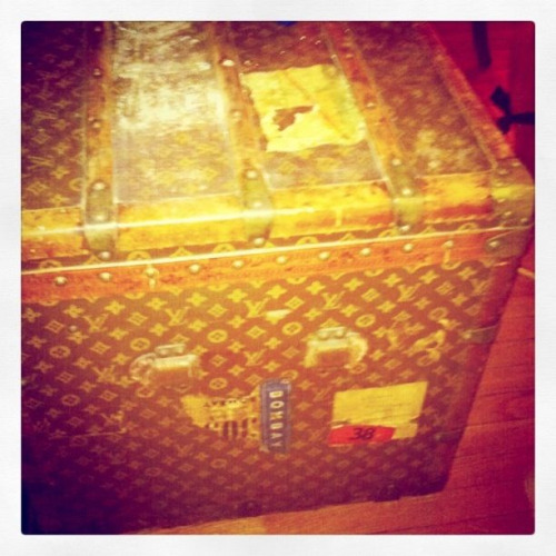 Antique louis vuitton trunk from cara's crib…. So ill!